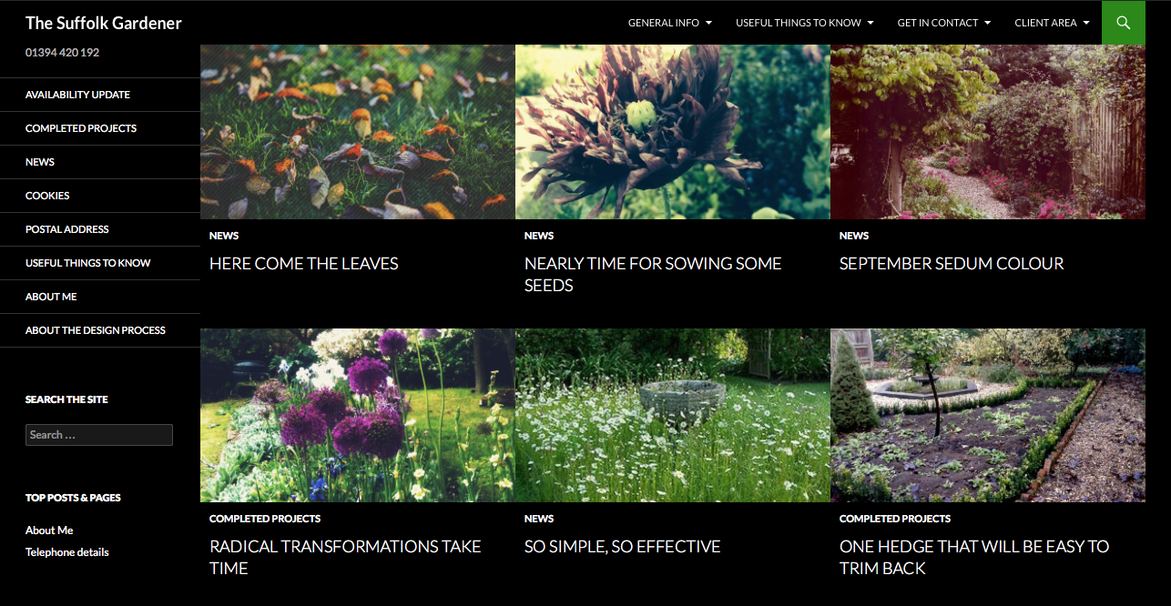 Garden Designer's website